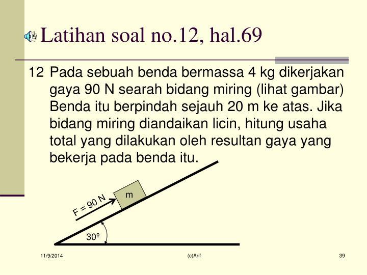 Latihan soal no.12, hal.69