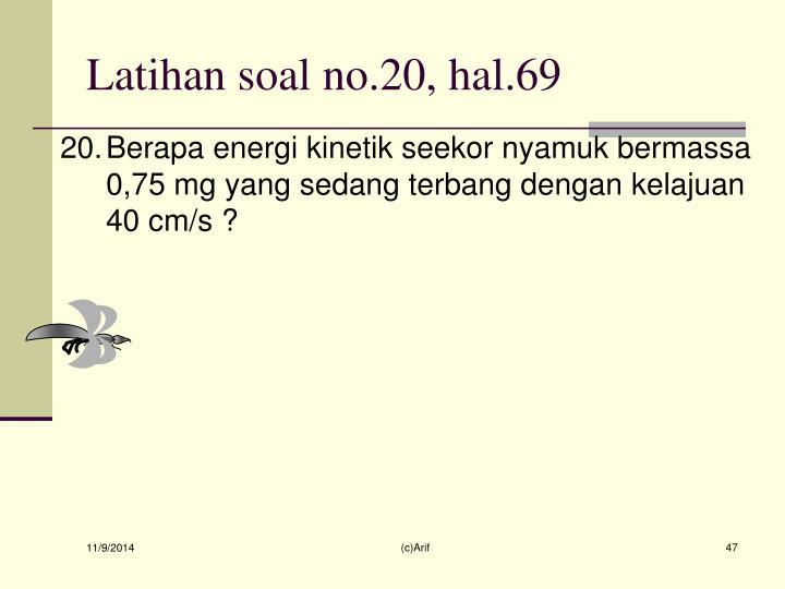 Latihan soal no.20, hal.69