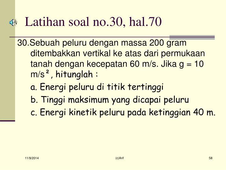 Latihan soal no.30, hal.70