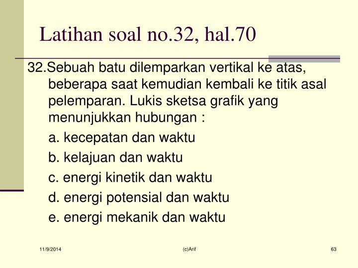 Latihan soal no.32, hal.70