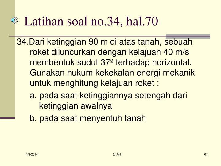 Latihan soal no.34, hal.70