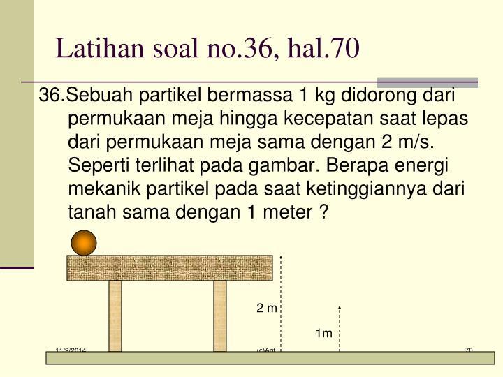 Latihan soal no.36, hal.70