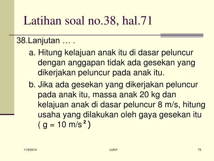Latihan soal no.38, hal.71