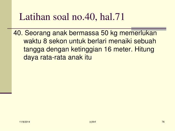 Latihan soal no.40, hal.71