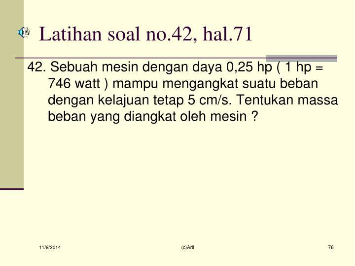 Latihan soal no.42, hal.71