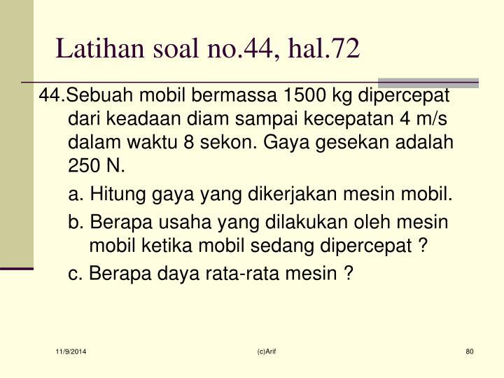 Latihan soal no.44, hal.72