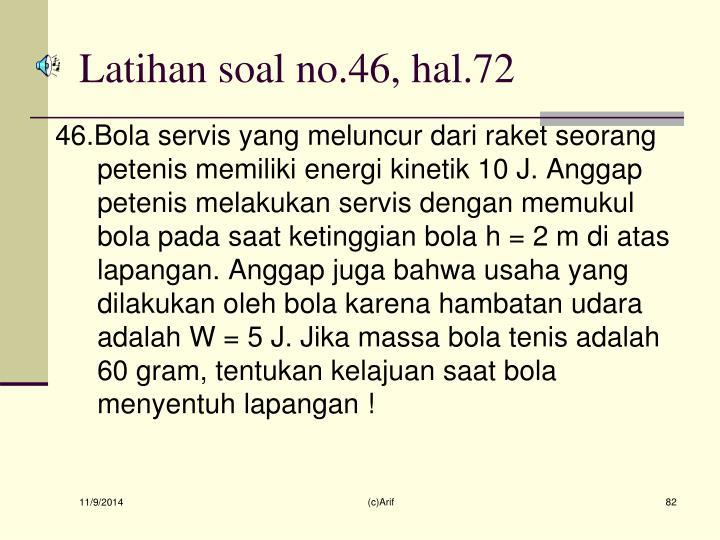 Latihan soal no.46, hal.72