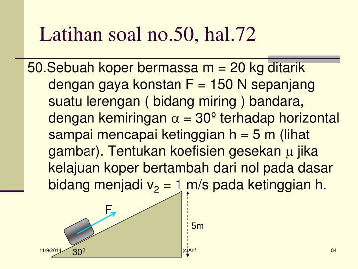 Latihan soal no.50, hal.72
