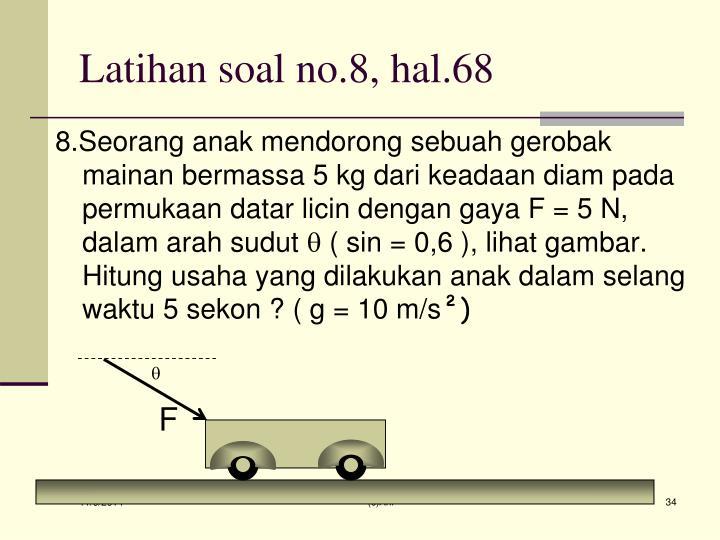 Latihan soal no.8, hal.68