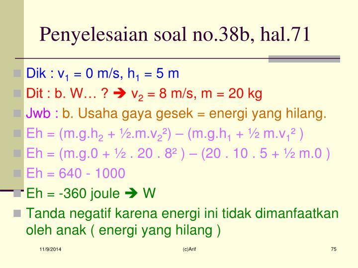 Penyelesaian soal no.38b, hal.71