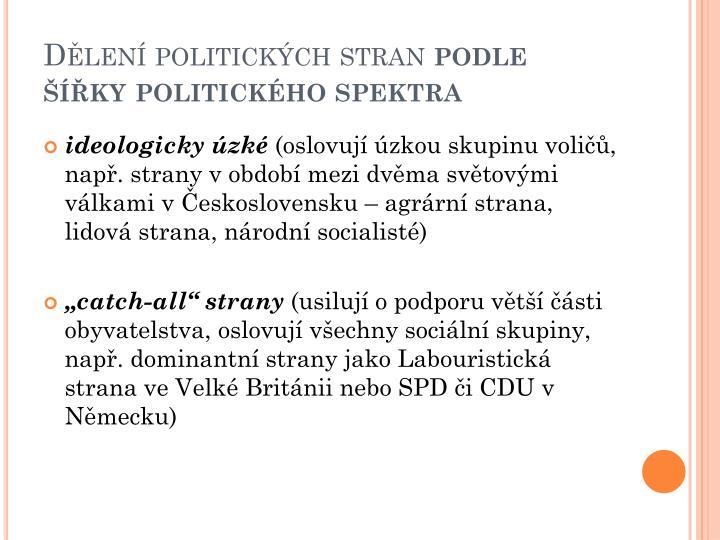 Dělení politických stran