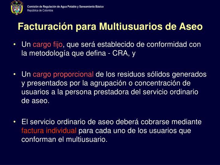 Facturación para Multiusuarios de Aseo