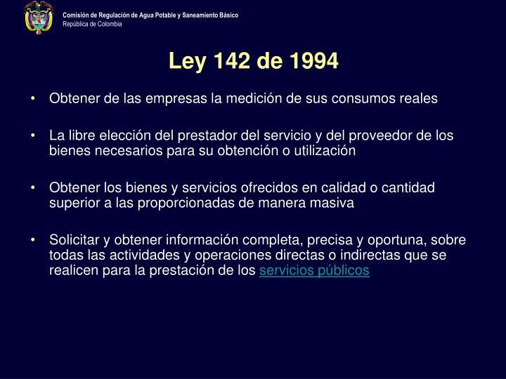 Ley 142 de 1994