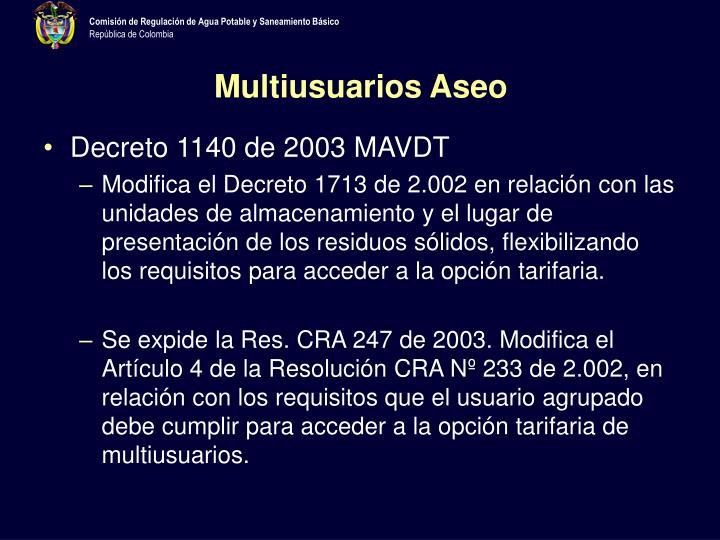 Multiusuarios Aseo