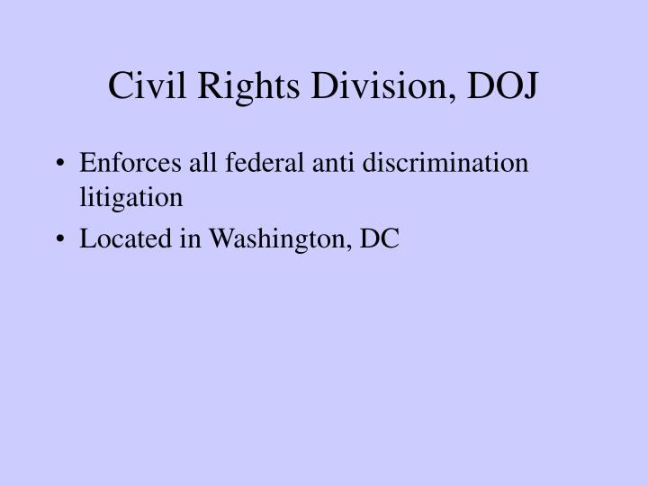 Civil Rights Division, DOJ