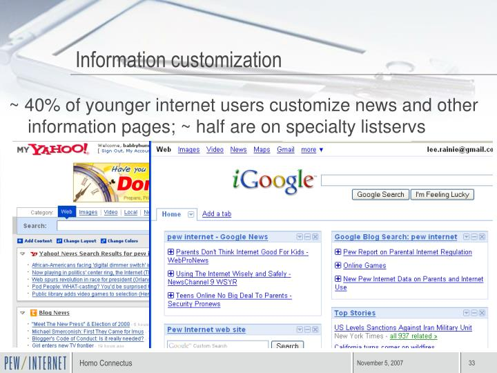 Information customization