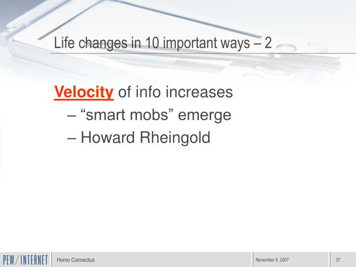 Life changes in 10 important ways – 2