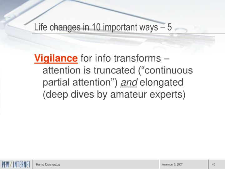 Life changes in 10 important ways – 5