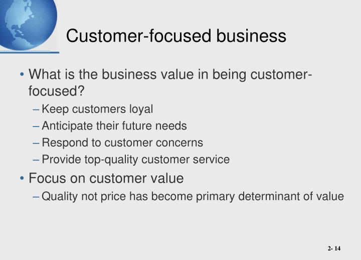 Customer-focused business