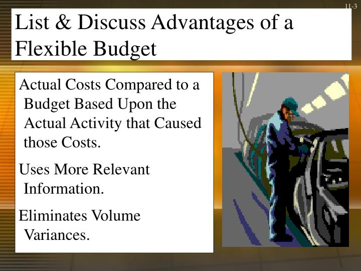 disadvantage of flexible budget