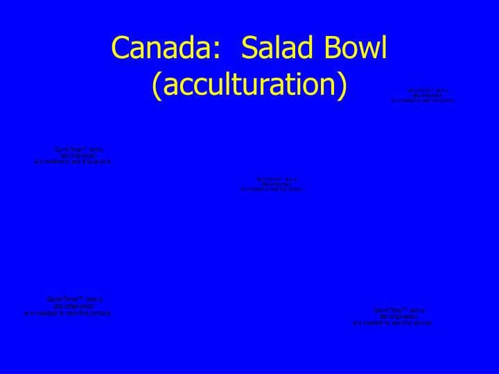 Canada:  Salad Bowl (acculturation)
