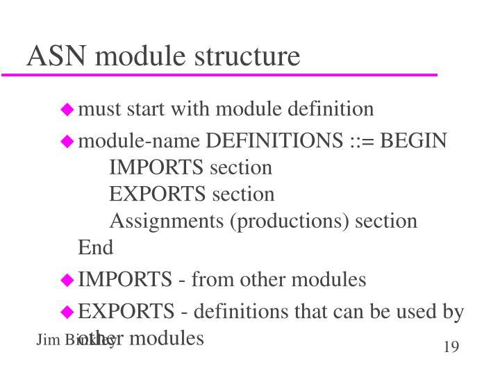 ASN module structure