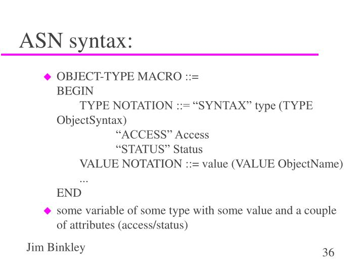 ASN syntax: