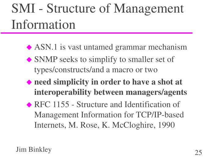 SMI - Structure of Management Information
