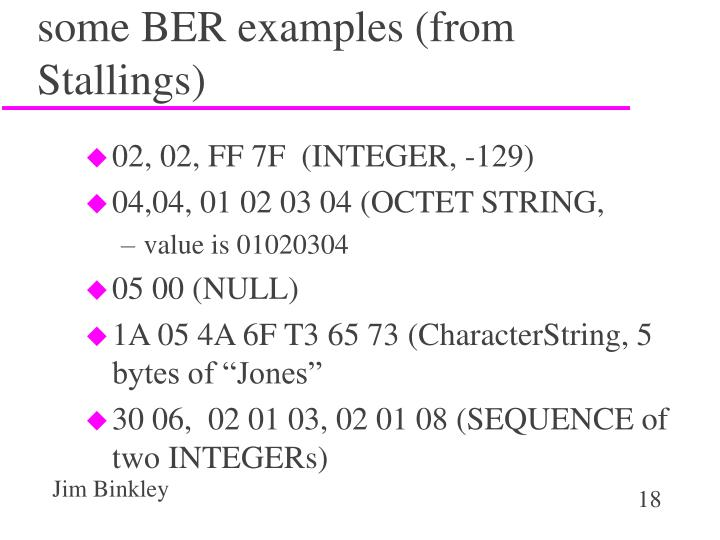 some BER examples (from Stallings)