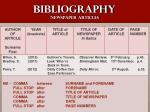 bibliography newspaper articles