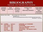 bibliography web pages and web sites with authors