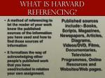 what is harvard referencing
