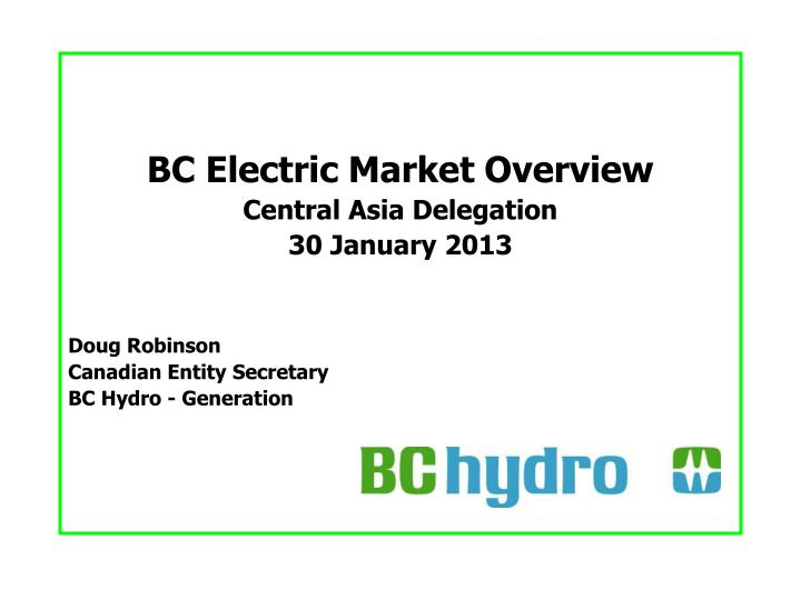 BC Electric Market Overview