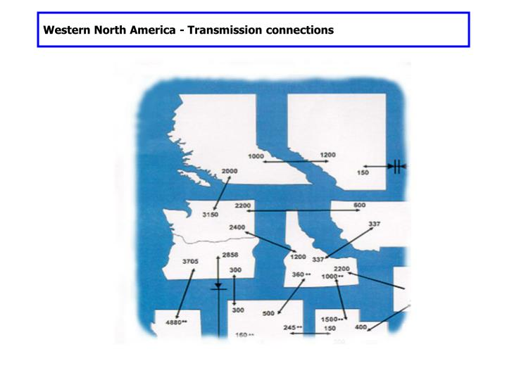 Western North America - Transmission connections