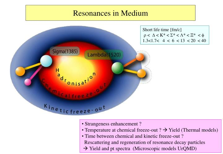 Resonances in Medium