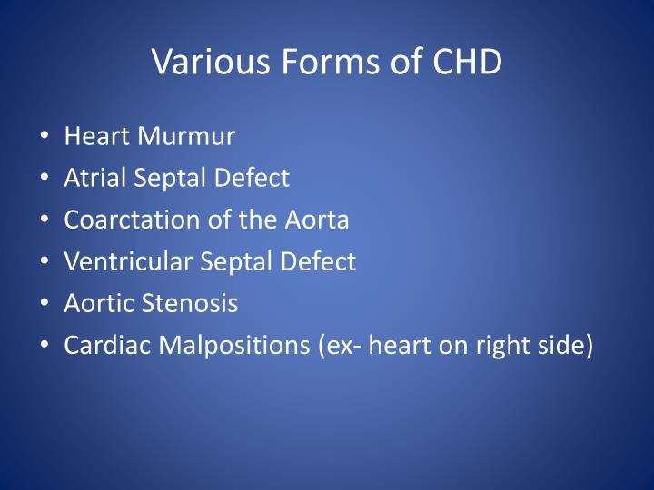 Various forms of chd