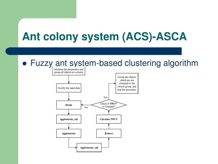 Ant colony system (ACS)-ASCA