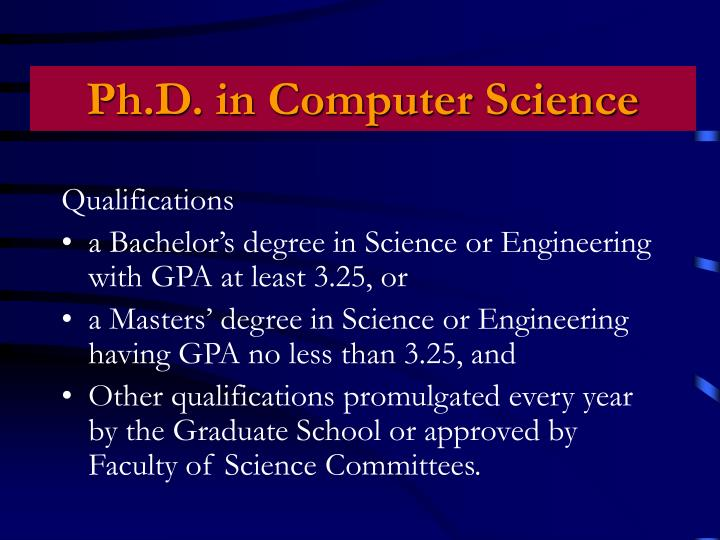 Ph.D. in Computer Science
