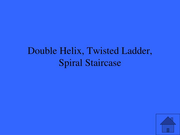 Double Helix, Twisted Ladder, Spiral Staircase