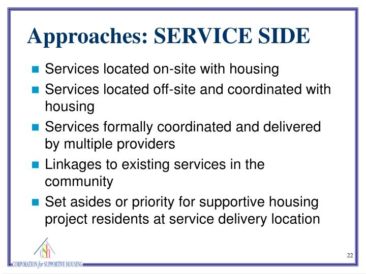 Services located on-site with housing