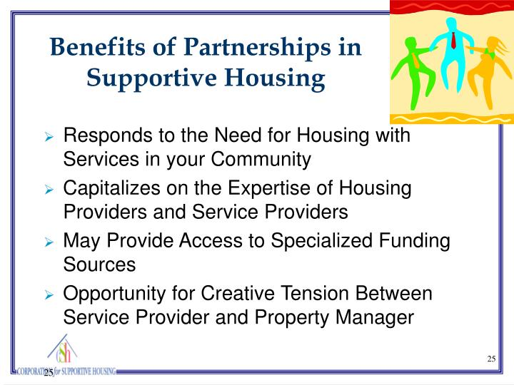 Benefits of Partnerships in Supportive Housing