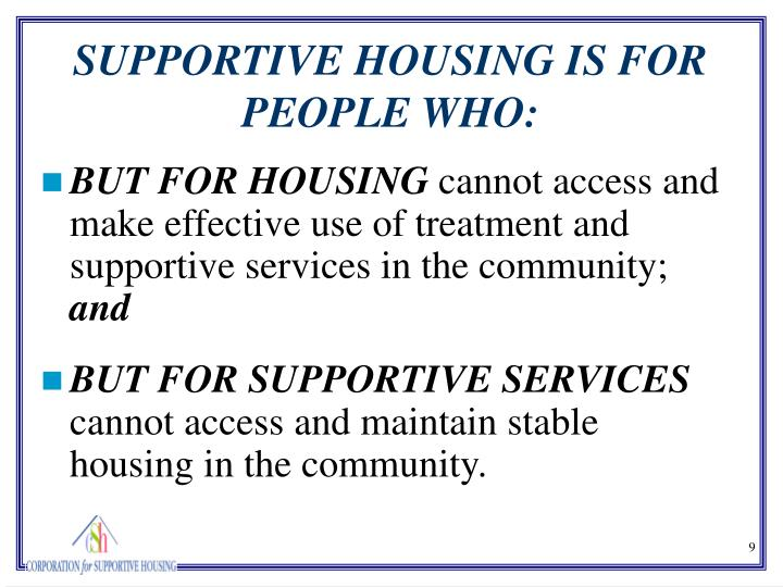 BUT FOR HOUSING