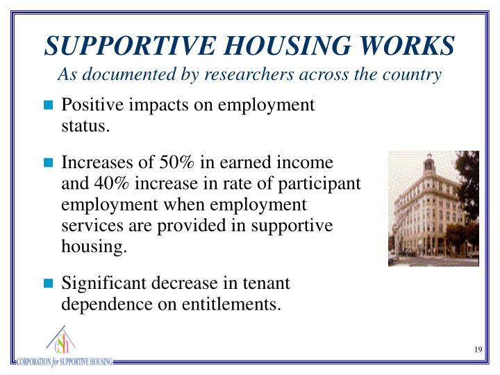 Positive impacts on employment status.