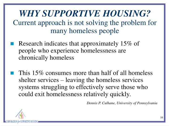This 15% consumes more than half of all homeless shelter services – leaving the homeless services systems struggling to effectively serve those who could exit homelessness relatively quickly.