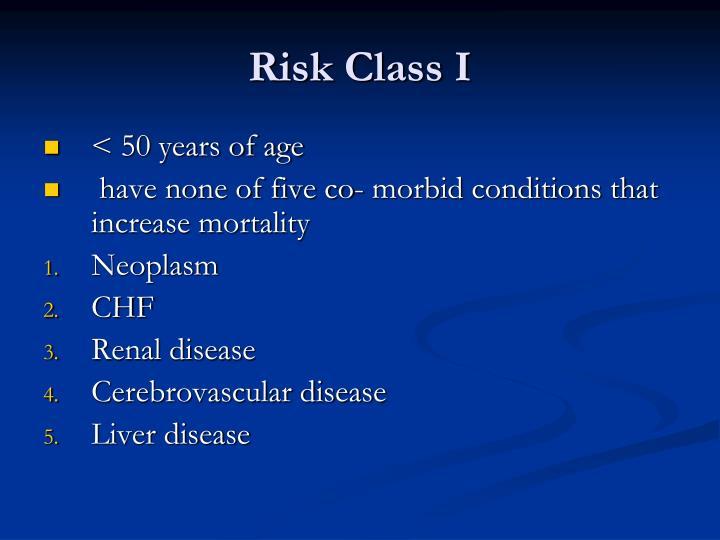 Risk Class I