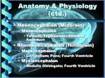 anatomy physiology ctd