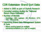 cdr extension brand sort data