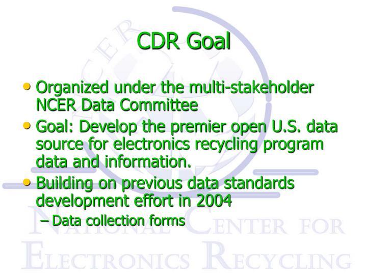 CDR Goal