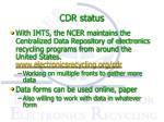 cdr status