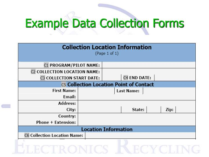 Example Data Collection Forms